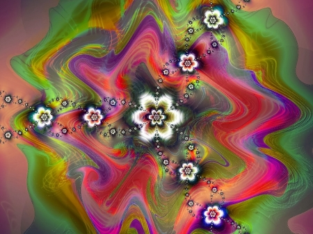 Psychodelic - colorful, geometric, abstract, fractal