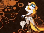 Steampunk Minerva Wallpaper