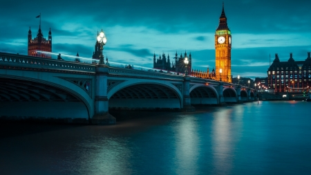 London - london, united kingdom, westminster bridge, big ben, houses of parliamen