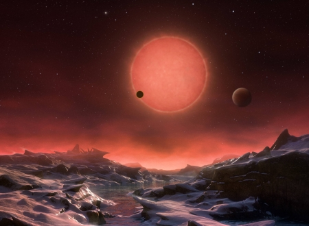 Three Worlds for TRAPPIST-1 - stars, cool, space, fun, galaxy