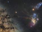 Saturn and Mars visit Milky Way Star Clouds