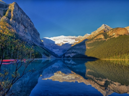 The Louise Lake,Canada - park, banff, reflection, nature, mountain, lake