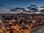 magical town of cappadocia turkey at sunset hdr