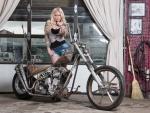 Cowgirl & Her Deth-Mettle Bike