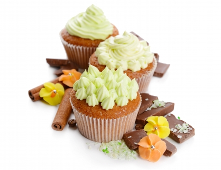 Sweet Cupcakes - cupcake, delicious, food, chocolate, dessert, sweet
