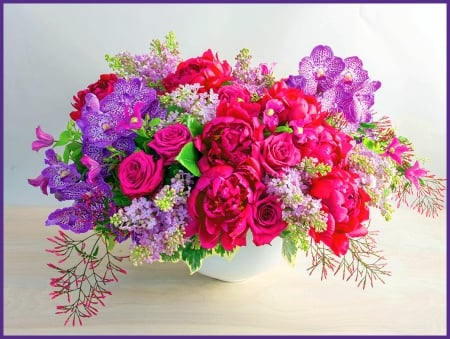 THANK YOU - colors, arrangement, flowers, thanks