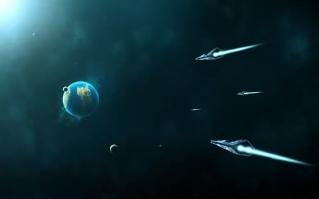 Colony-0046 - planets, 3d, space, spaceships, render, galaxy