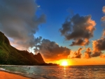 hawain beach sunset