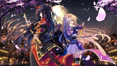 Samurai Girls Cute Anime Girls Wallpapers And Images Desktop