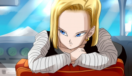 Dbz Android 18 Tv Series Entertainment Background