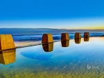 Pool at sunrise in Coogee outside Sydney New South Wales Australia
