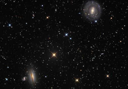 NGC 5078 and Friends - planets, stars, fun, cool, galaxies, space