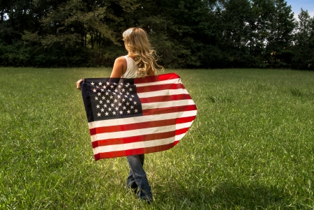 Happy Memorial Day Cowgirl.. - female, models, cowgirl, memorial day, boots, fun, saddles, flag, women, americana, girls, fashion, barns, blondes, western, style