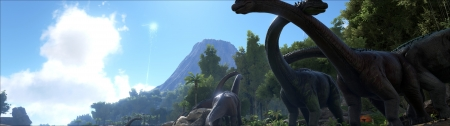 Ark: Bronto Heard - Evolved, Video, Ark, Monitor, Jurassic, Game, Dual monitor, Bronto, 1080p, Dual, Park, Survival
