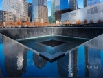 The National September 11 Memorial at the site of the World Trade Center in Lower Manhattan New York City New York