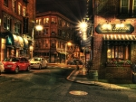 boston town at night hdr