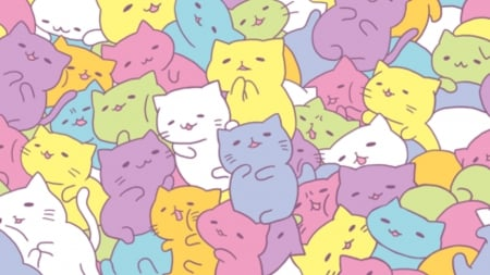 Kawaii Cats Cats Animals Background Wallpapers On