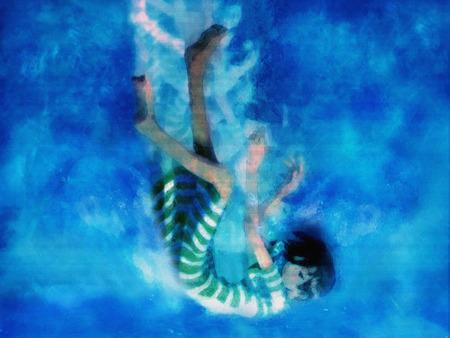 Anime Girl Falling In Water