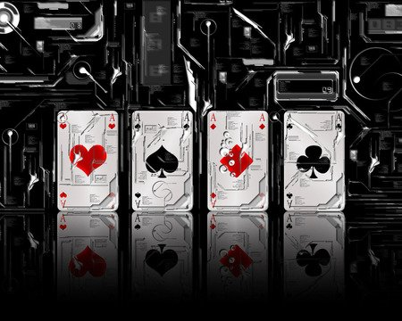All Aces - negative, card, ace, aces, ace card, four aces, for u ace, playing cards, poker