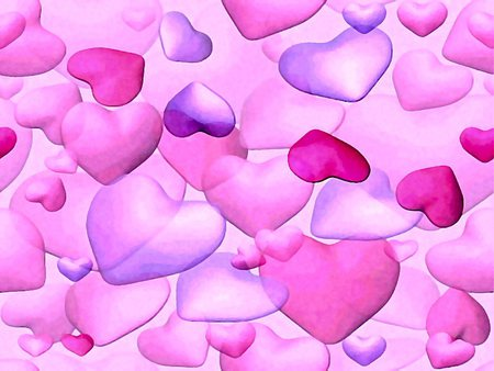 wallpapers purple hearts pink - photo #39