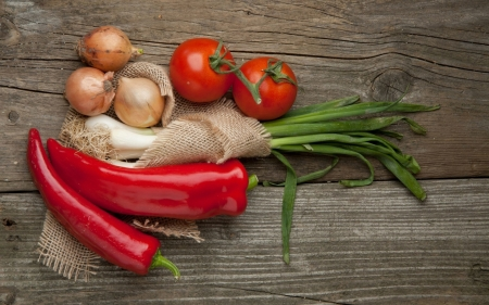 vegetables - tomato, chilli, onion, vegetables
