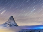 star shower over the matterhorn