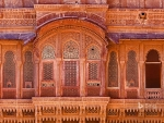 Exterior of Mehrangarh Fort in Jodhpur India