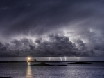 gray lightning storm offshore