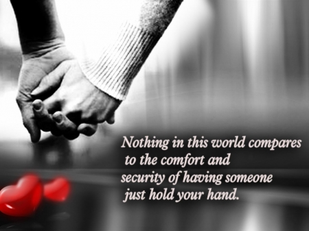 hold my hand - hands, words, couple, love