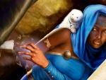 monk and her pet weasel