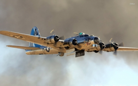 boeing b17 flying fortress - fortress, plane, flying, boeing