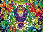Whimsical Forest Owl F1
