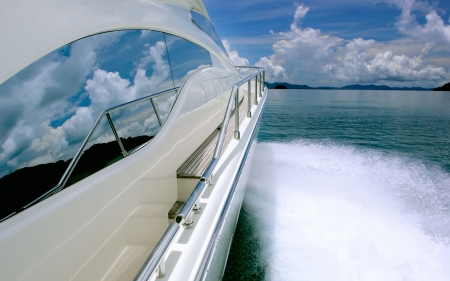 Superyacht - modern, private, Superyacht, water, boat, marine, ocean