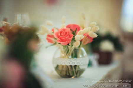 Little Bouquet - still life, little, bouquet, flowers, beautiful, roses, for you