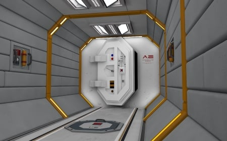 Exit to the unknown - door, cinema 4d, 3d, space