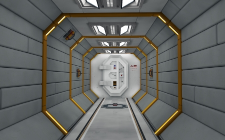 Airlock - cinema 4d, 3d, space, door
