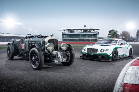 Bentley Continental GT3, and the 1929 'Blower' Bentley - turbo, cars, continental, blower, bentley, new, old