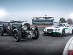 Bentley Continental GT3, and the 1929 'Blower' Bentley