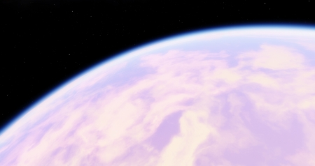 Pink Planet with Blue Atmosphere - Astronomy, Game, High Quality, Pink, Space, Planet, Blue, Atmosphere