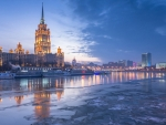 frozen river in moscow