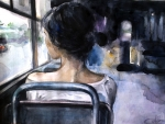 In the bus-Fine Art-