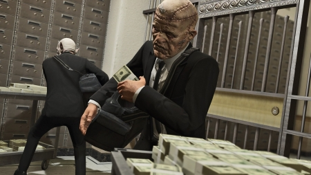Grand Theft Auto V - stolen, money, open world, rockstar games, video game, game, Grand Theft Auto 5, GTA V, Grand Theft Auto V, gaming, GTA 5, GTA, heist, cash