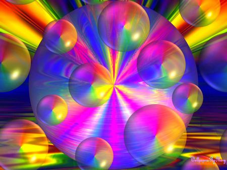 rainbow bubbles 3d and cg amp abstract background