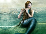 Mermaid Playing Her Flute