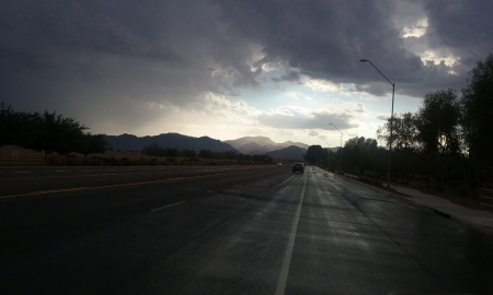 Mountain Rain - rain, mountains, storm, arizona
