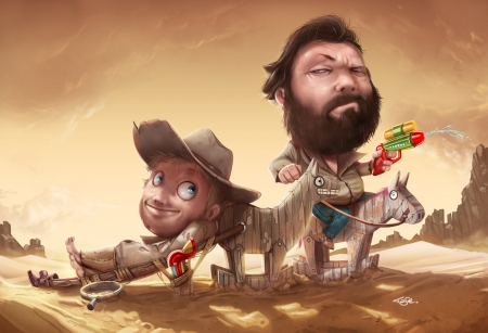 Bud Spencer And Terence Hill Funny Entertainment Background