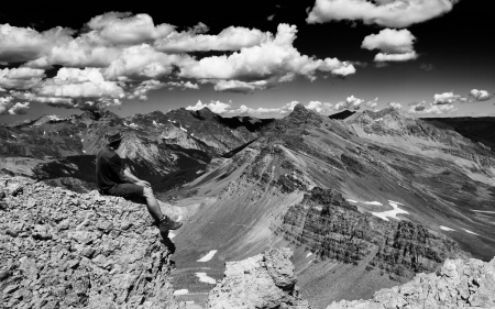 Colorado Pass - mountains, colorado, blackandwhite, pass