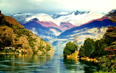 Lake,Patagonia,Chile - Mountain, Lake, Nature, Chile