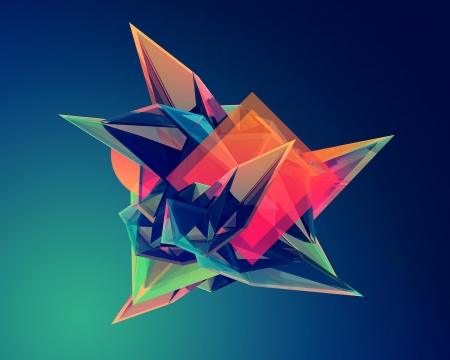 abstract shape - colors, modern, 3D, abstract