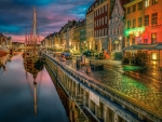 evening on a beautiful amsterdam canal hdr